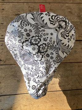 Sattel-Cover | schwarz/weiß |Ornament