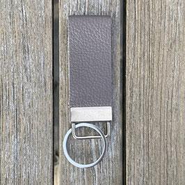 Leder-Schlüsselanhänger grau