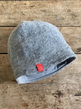 Schurwoll-Mütze | hellgrau meliert