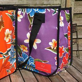 Einkaufstasche | Wachstuch |violett