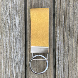 Leder-Schlüsselanhänger gelb