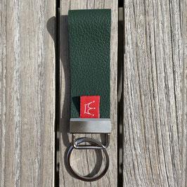Leder-Schlüsselanhänger grün