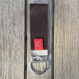 Leder-Schlüsselanhänger dunkelbraun