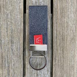 Leder-Schlüsselanhänger dunkelgrau
