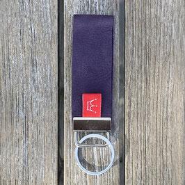 Leder-Schlüsselanhänger violett