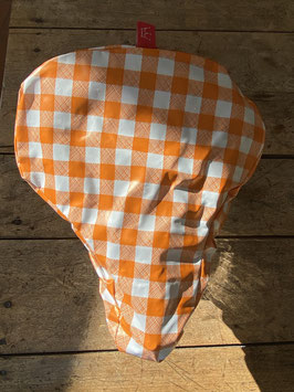 Sattel-Cover | orange | Karo