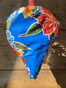 Sattel-Cover | blau | Blüten