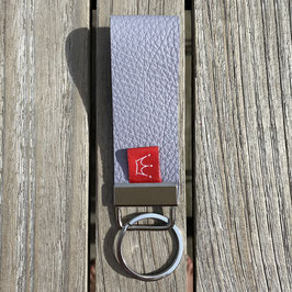 Leder-Schlüsselanhänger hellrosa | genarbt