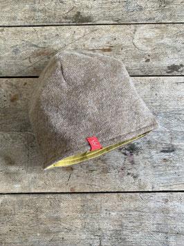 Angora-Jersey Mütze | caramel meliert