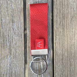 Leder-Schlüsselanhänger rot
