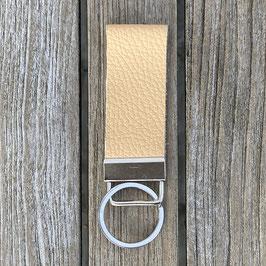 Leder-Schlüsselanhänger sand