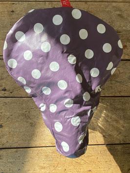 Sattel-Cover | violett |Punkte