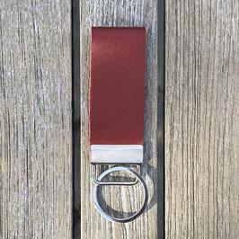 Leder-Schlüsselanhänger bordeaux