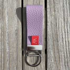 Leder-Schlüsselanhänger rosa | genarbt