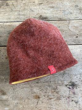 Angora-Jersey Mütze | rost meliert