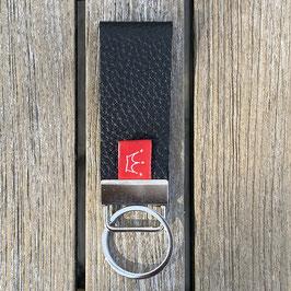 Leder-Schlüsselanhänger schwarz
