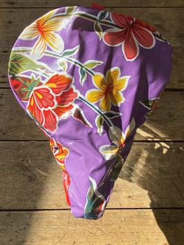 Sattel-Cover | violett | Blüten