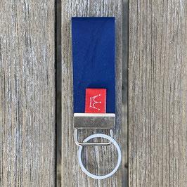 Leder-Schlüsselanhänger blau