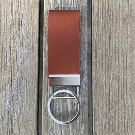 Leder-Schlüsselanhänger braun