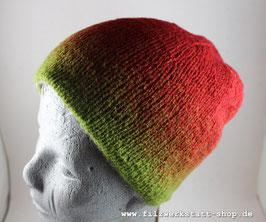 Wendemütze Grün/ Rot