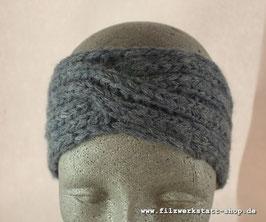 """Stirnband """"Welle"""" Blau Meliert"""