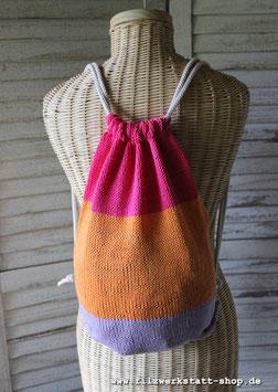 Turnbeutel  Flieder/Orange/Pink