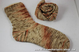 """Holzfeuer""-Socke   Größe 38-39"