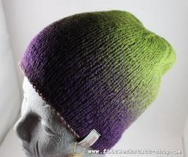 Wendemütze Grün/ Lila