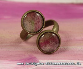 "Doppelring Bronze ""Rosa/Pink"""