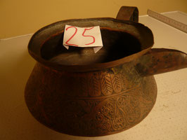 Nr. 25 Schnabel-Kanne, Kupfer, verziert 8x16 cm