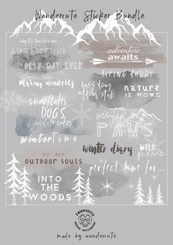 "Story Sticker 2er SET ""WINTER & MOUNTAIN"""