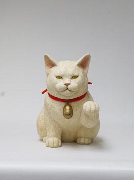 白い招き猫(縁まねきと財まねき)