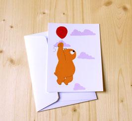 Carte postale OURSON VOLE