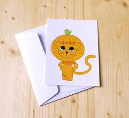 Carte postale LION & OISEAU