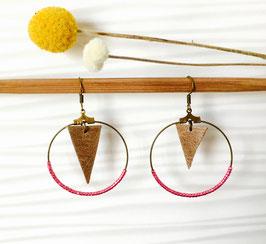 Boucles d'oreilles en cuir beige