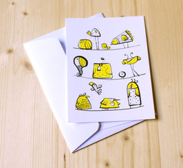 Carte postale YELLOW BIRDS