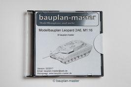 Modellbauplan Leopard 2A6, M1:16