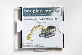 Modellbauplan CAT 385C L, M1:16