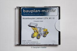 Modellbauplan Radlader Liebherr L 574, M1:10