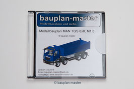 Modellbauplan LKW/Kipper MAN 8x8, M1:8