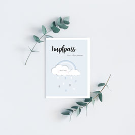 "Impfpass ""Clouds"" in Hellblau"