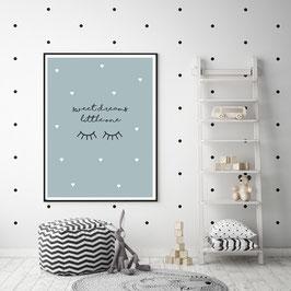 "Poster ""sweet dreams little one"" in Türkis"
