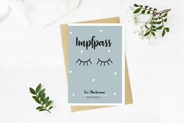 "Impfpass ""Sleepy Eyes"" in Türkis"