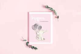"Impfpass ""Elefant"" in Rosa"