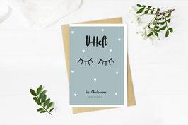 """U-Heft """"Sleepy Eyes"""" in Türkis"""
