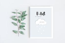 """U-Heft """"Wölkchen"""" in Hellblau"""