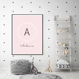 "Poster ""Initial"" in Rosa"