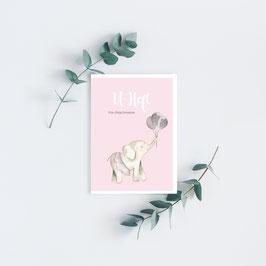 "U-Heft ""Elefant"" in Rosa"