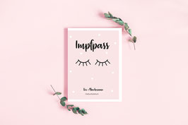 "Impfpass ""Sleepy Eyes"" in Rosa"