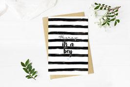 """Postkarte """"Its a boy"""""""